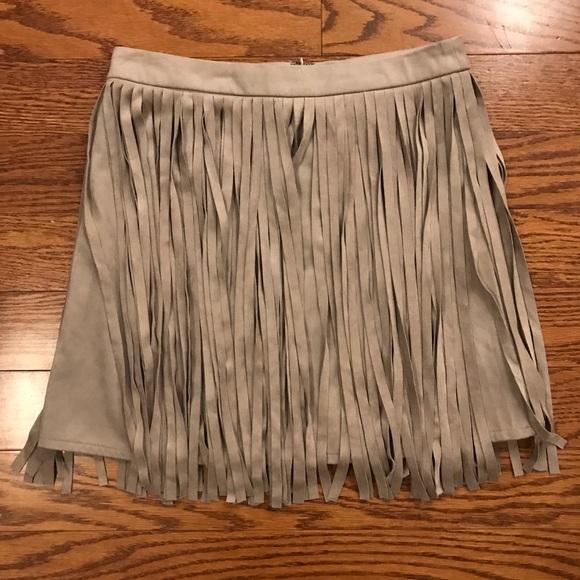 BB Dakota Dresses & Skirts - BB Dakota fringe skirt